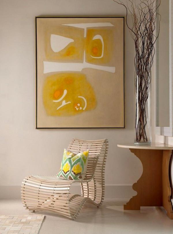 La peinture abstraite dans l 39 int rieur contemporain for Peinture geometrique contemporaine