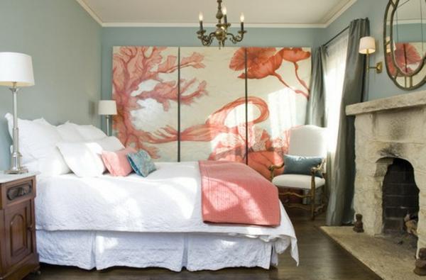 La peinture abstraite dans l 39 int rieur contemporain for Chambre a coucher rose fushia