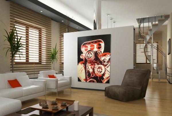 peinture-abstraite-intérieur-à-plan-ouvert