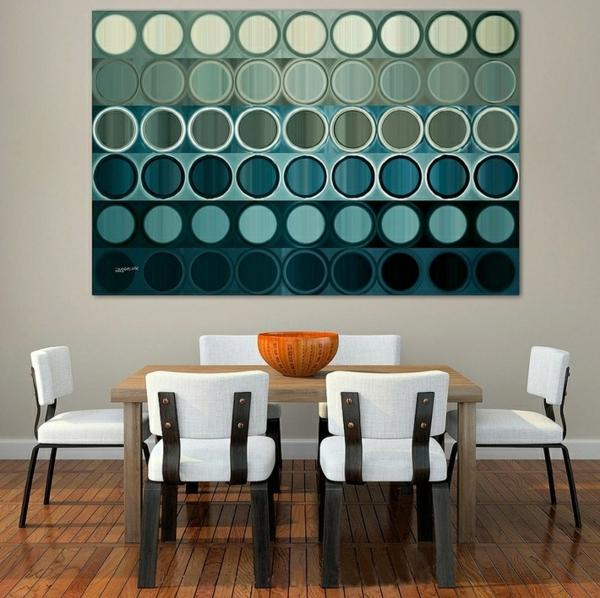 peinture-abstraite-jolis-cercles-salle-de-déjeuner