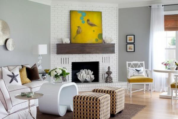 peinture-abstraite-la-salle-de-séjour-contemporaine