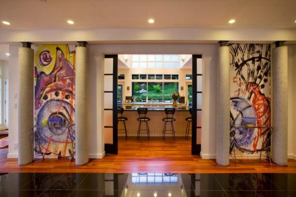 La peinture abstraite dans l 39 int rieur contemporain for Peinture abstraite moderne