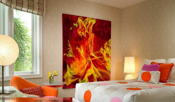 peinture-abstraite-pour-la-chambre-à-coucher-moderne