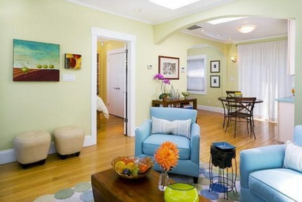 peinture-abstraite-salle-de-séjour-et-petit-coin-de-déjeuner