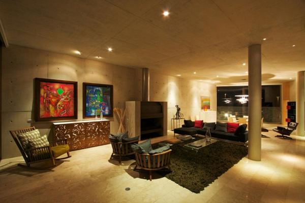 peinture-abstraite-salle-de-séjour-luxueuse