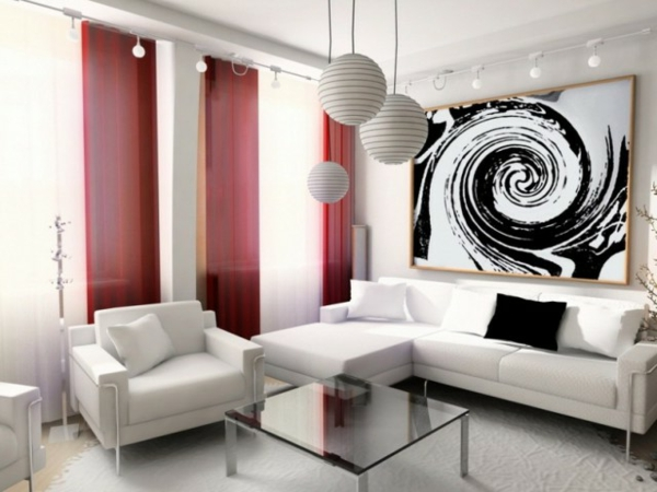 peinture-abstraite-trois-lampes-pendantes