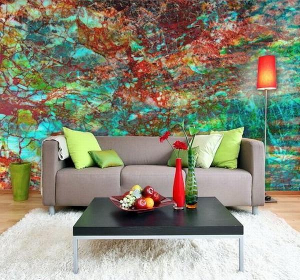 peinture-abstraite-un-mur-peint-à-la-main