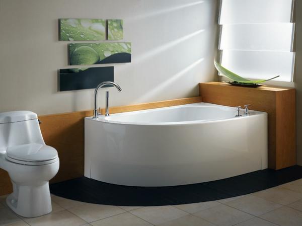 petite-baignoire-d' angle-déco-murale