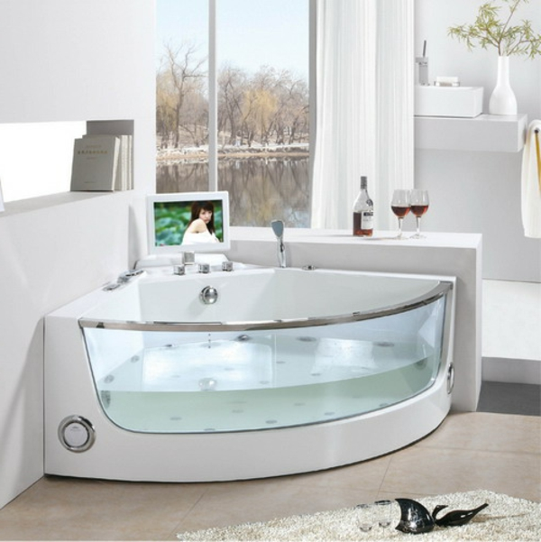 petite-baignoire-d' angle-intérieur-blanc
