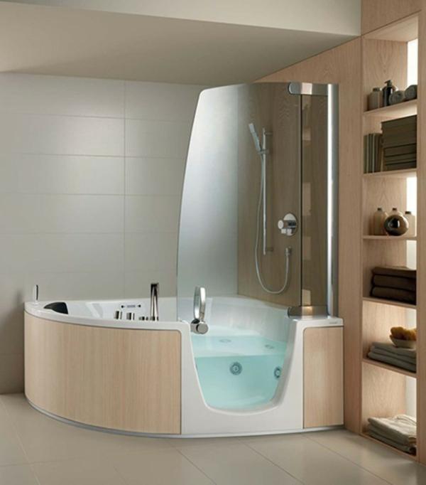 La petite baignoire d 39 angle est la princesse de votre salle de bains a - Baignoire angle douche ...