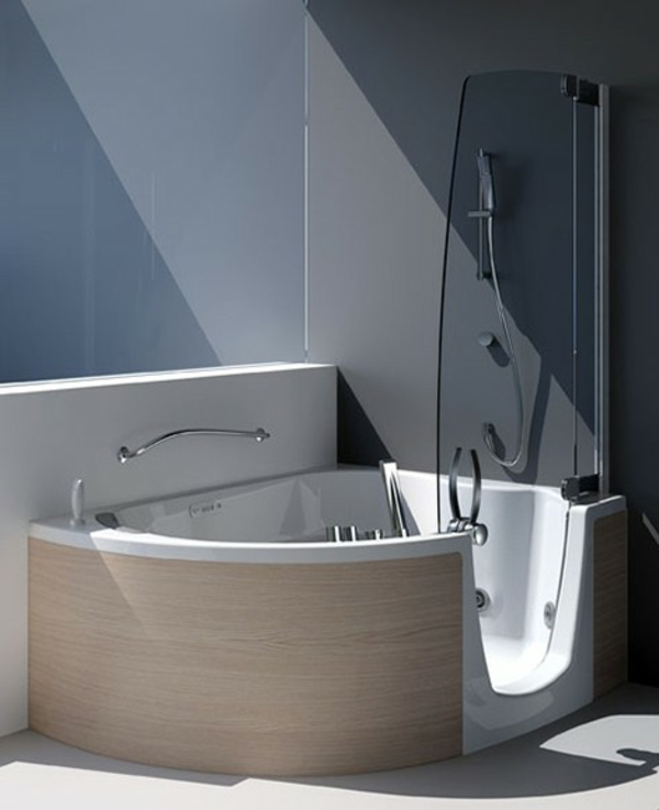 petite-baignoire-d' angle-un-style-moderne