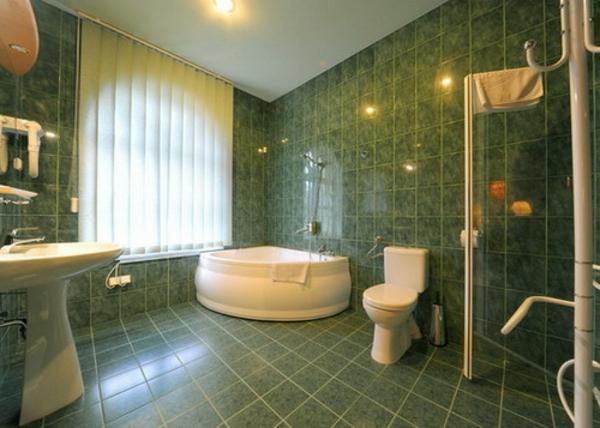 salle de bain vert et marron awesome salle de bains gris vert mineral with salle de bain vert. Black Bedroom Furniture Sets. Home Design Ideas