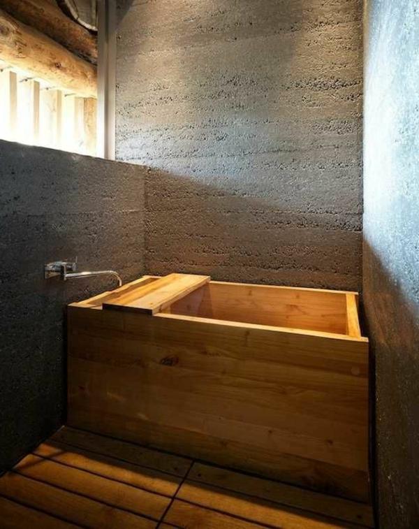 La d co de salle de bain en bois 107 photos for Baignoire pour petit espace