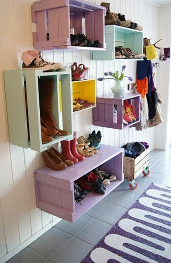 porte-chaussures-mural-boîtes-handcraft