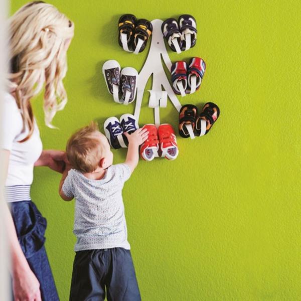 porte-chaussures-mural-design-créatif