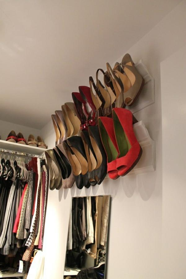porte-chaussures-mural-idées-rangement-mural
