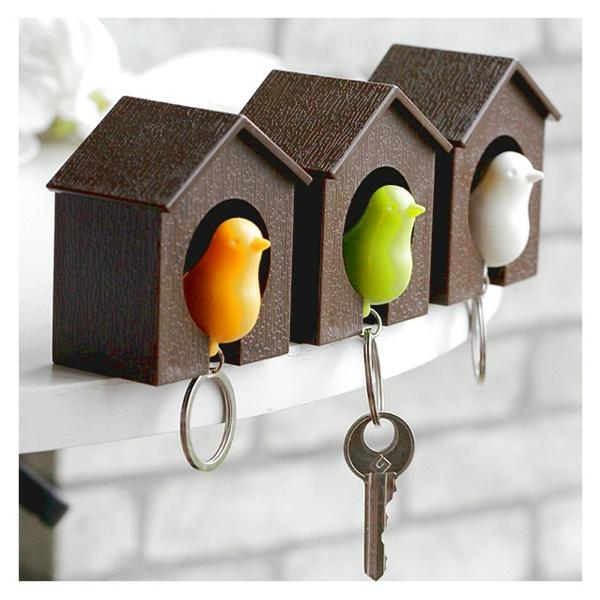 porte-clé-mural-original-design-maisonnettes-d'oiseaux
