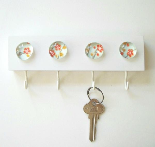 porte-clé-mural-original-en-blanc