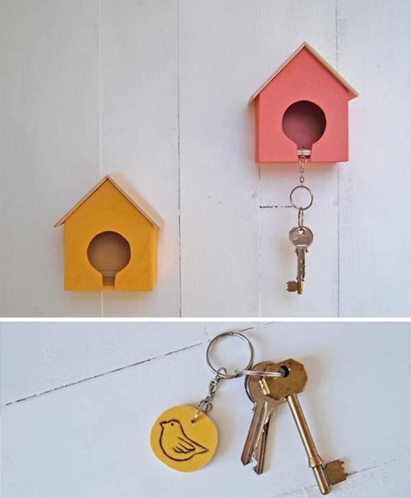 porte-clé-mural-original-petites-maisons-d'oiseaux