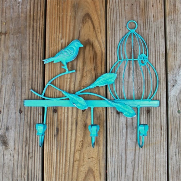 porte-clé-mural-original-porte-clé-vintage-bleu