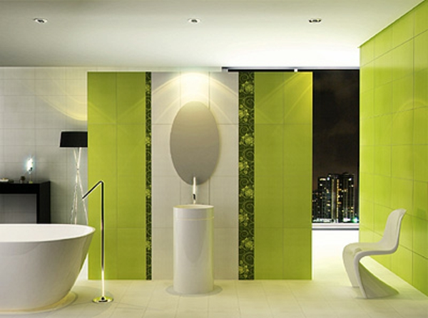 Salle de bain et d co minimaliste 117 photos uniques for Salle de bain vert gris