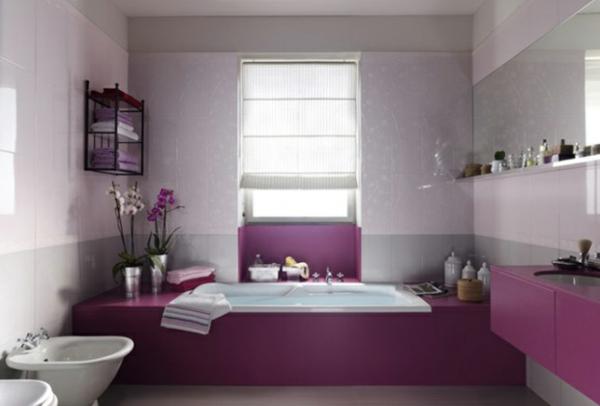 D coration salle de bain violet for Salle de bain violet