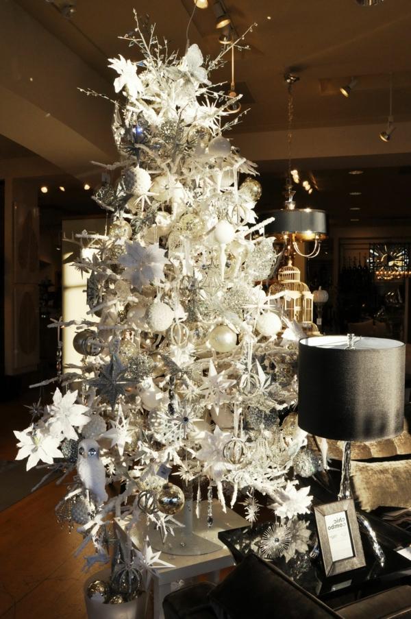 sapin-de-noel- blanc-arbre-argenté-magnifique