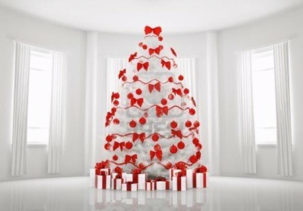 Blanc et rouge arbre de Noël Sapin toppro.nl