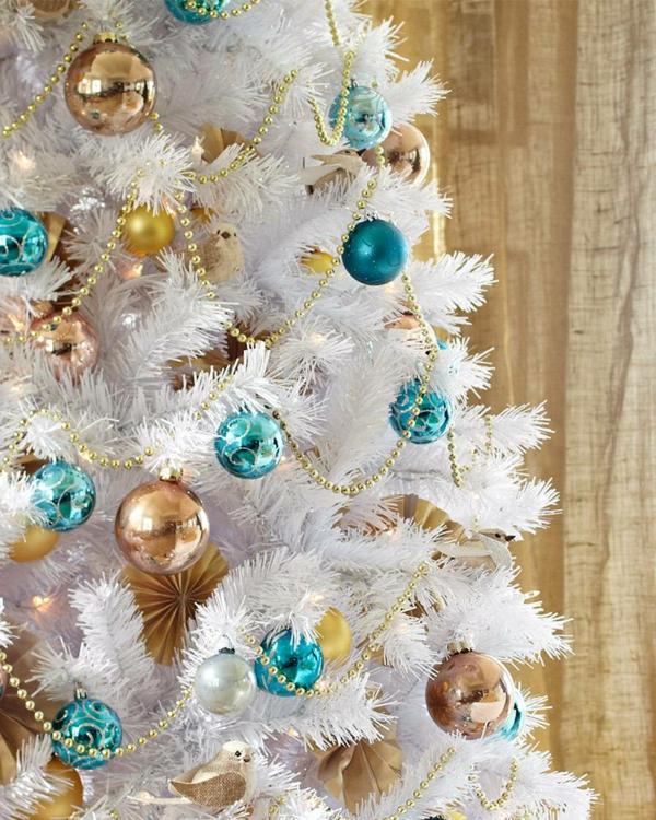 sapin-de-noel-blanc-décoration-de-noel-magnifique