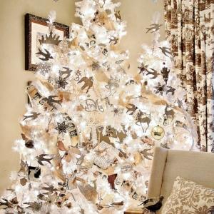 Le sapin de noel blanc, préparez votre fête jolie en blanc!