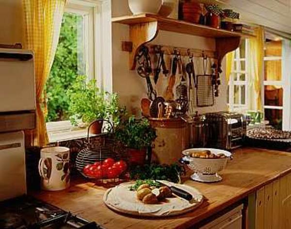 style-français-pour-la-décoration-de-la-cuisine-à-la-campagne