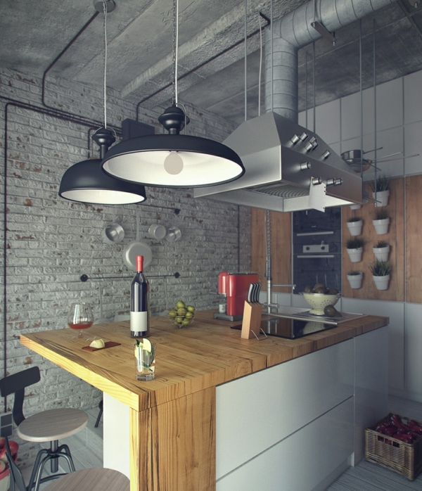 suspension-industrielle-cuisine-loft-industrielle