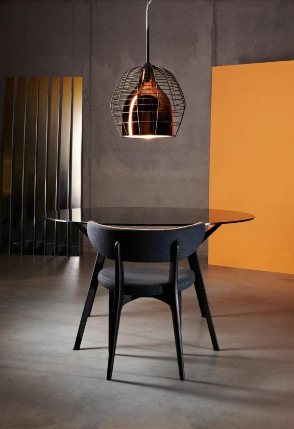 suspension-industrielle-lampe-cage-bronzée