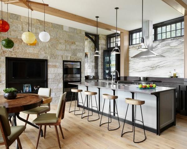 Le tabouret de bar industriel apporte une touche deco dans for Idee deco cuisine avec meuble salle a manger contemporain