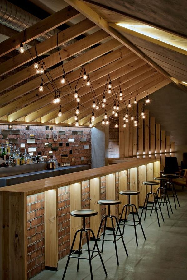 Le tabouret de bar industriel apporte une touche d co dans l 39 int rieur - Bar deco industrielle ...