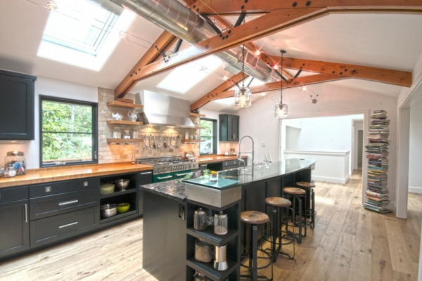tabouret-de-bar-industriel-une-cuisine-déco-industrielle