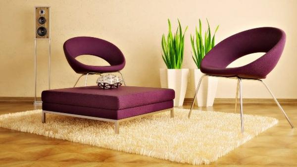 vases-art-décoration--en-blanc-et-fauteuils-futuristes
