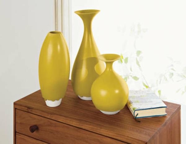 vases-décratioves-en-jaune-moutard