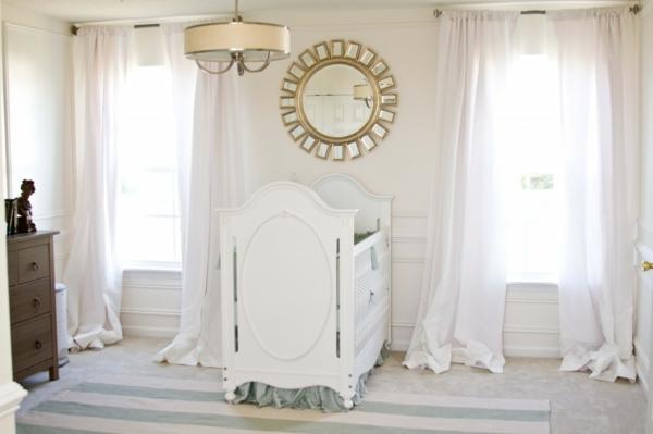 Le design de la chambre de bébé modernе en blanc - Archzine.fr