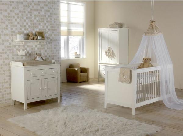 vintage-style-décoration-pour-une-lit-de-bebe
