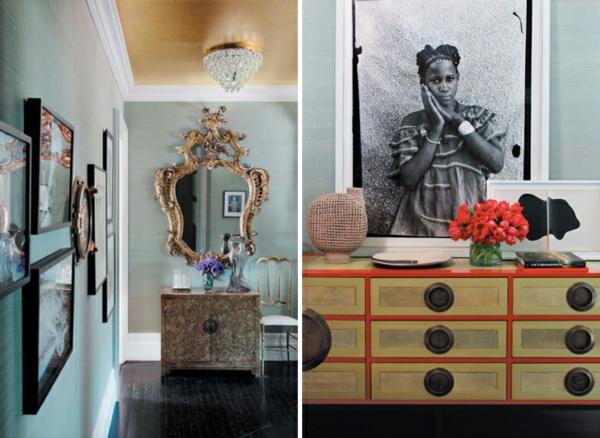 Le miroir baroque est un joli accent d co for Miroir mural baroque