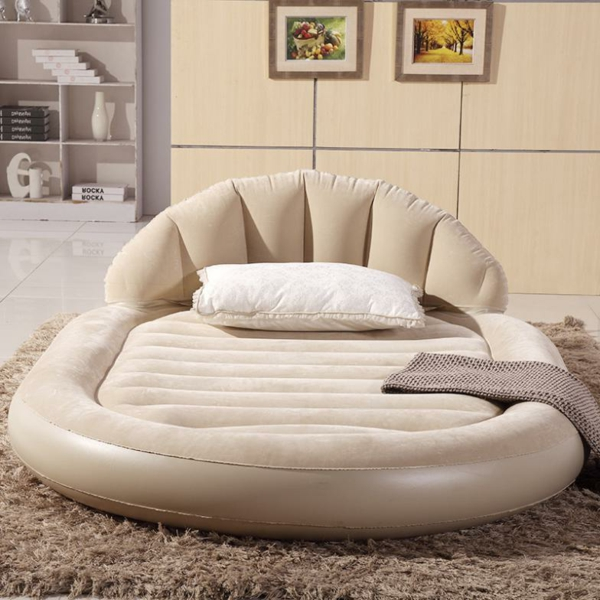 Large-font-b-luxurious-b-font-round-double-air-bed-inflatable-mattress-inflatable-dans-une-forme-rond-et-couleur-original-beige-