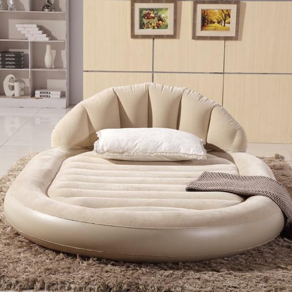 Large-font-b-luxurious-b-font-round-double-air-bed-inflatable-mattress-inflatable-dans-une-forme-rond-et-couleur-original-beige-