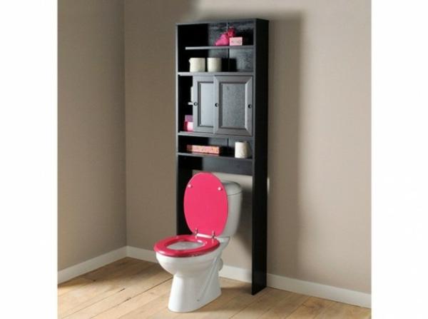 Le meuble wc for Meuble rangement salle de bain bois