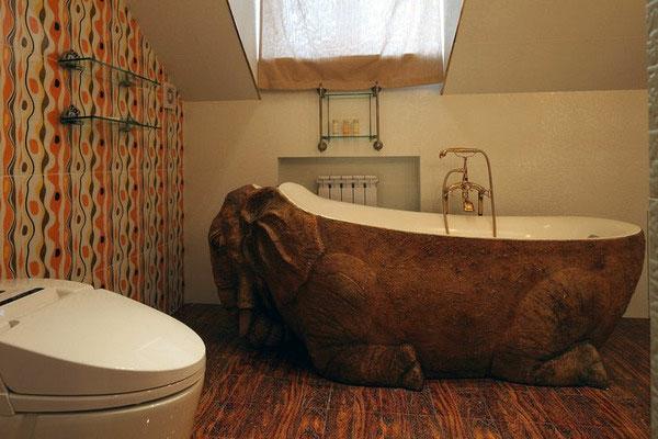 baignoire-asymétrique-baignoire-en-forme-d'éléphant