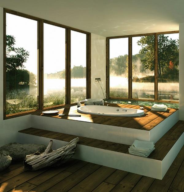 Mod les de baignoire asym trique for Salle de bain avec baignoire encastrable