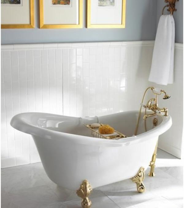 baignoire-asymétrique-baignoire-sabot-pieds-dorés