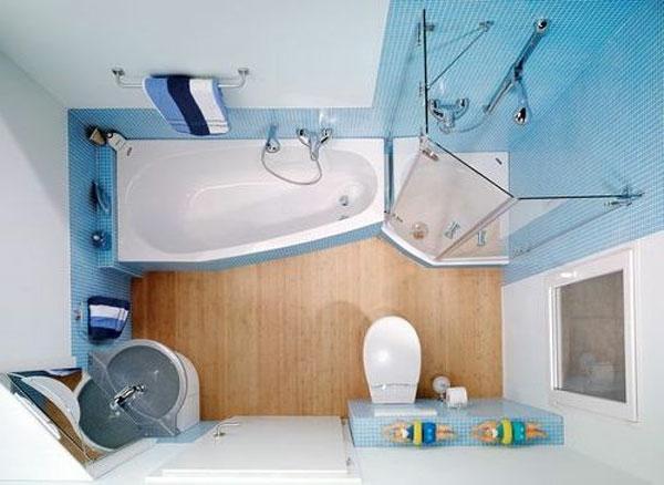 baignoire-asymétrique-carrelage-bleu
