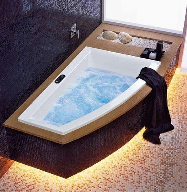 Mod les de baignoire asym trique - Habiller une baignoire ...
