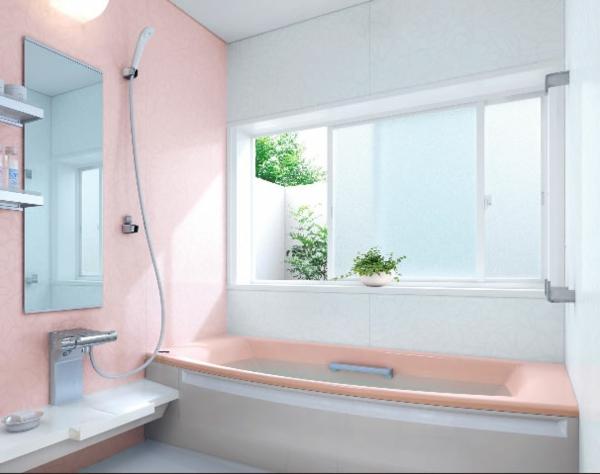 baignoire-asymétrique-intérieur-rose